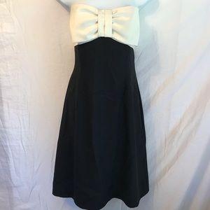 White House Black Market strapless bow dress